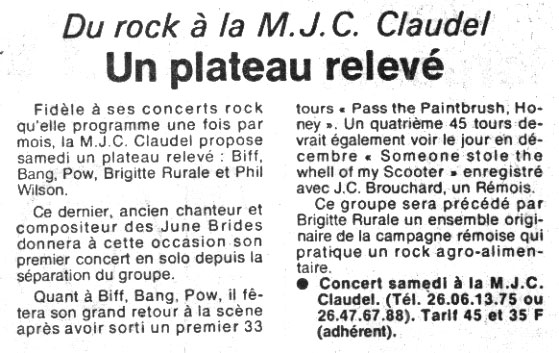 L'Union, octobre 1986